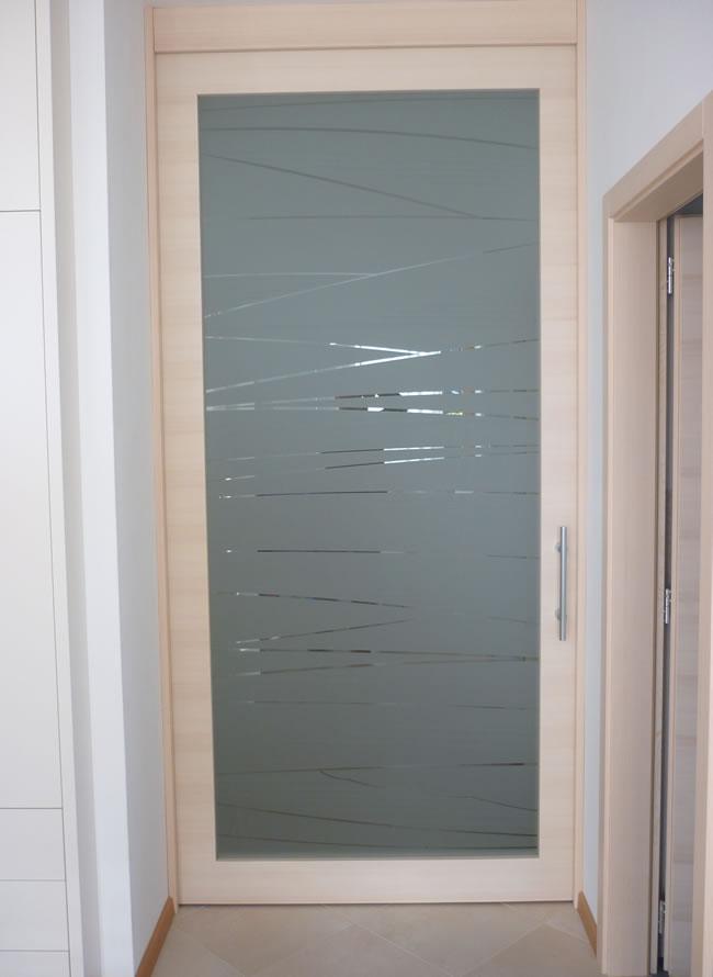 Porte moderne con vetro idea creativa della casa e dell for Porte moderne